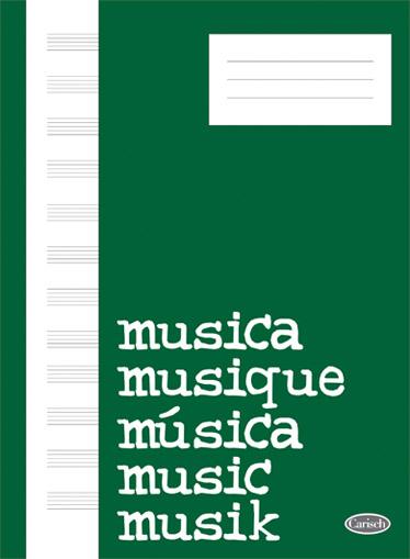 Quaderno Di Musica (Block  Cahier de Musique) Livre Sur la Musique