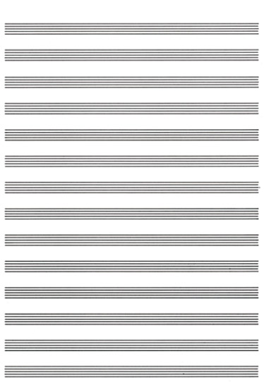 Carta da Musica (Cuadernillo  Papier à Musique): Manuscript