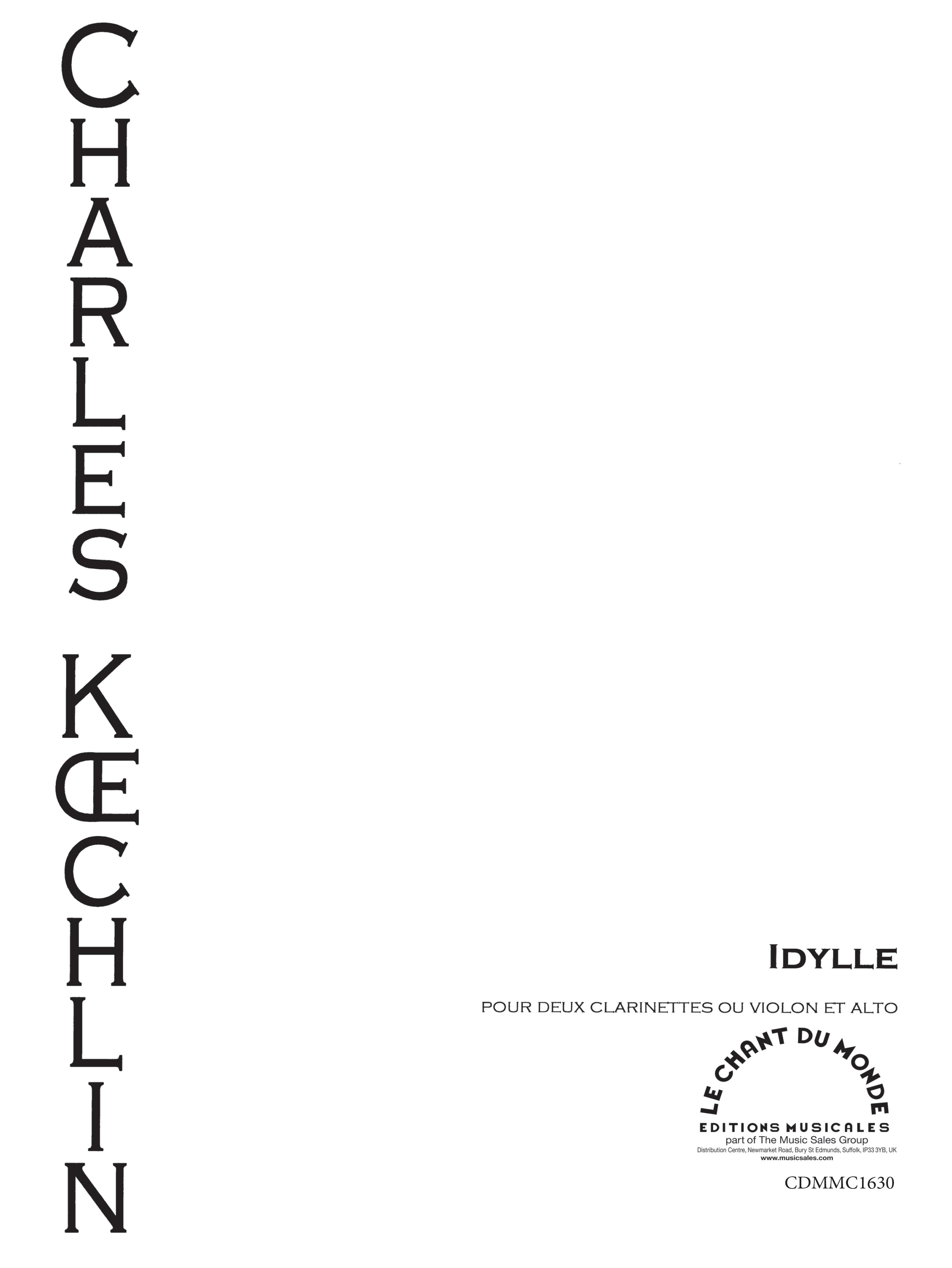 Charles Koechlin: Idylle: Mixed Duet: Instrumental Work