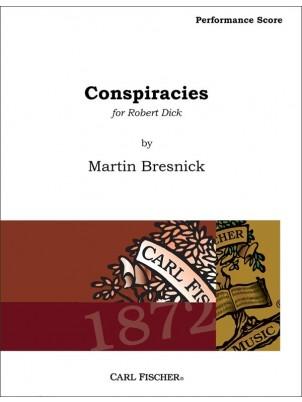 Martin Bresnick: Conspiracies: Flute Ensemble: Score and Parts