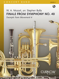 Wolfgang Amadeus Mozart: Finale from Symphony No. 40: Concert Band: Score &