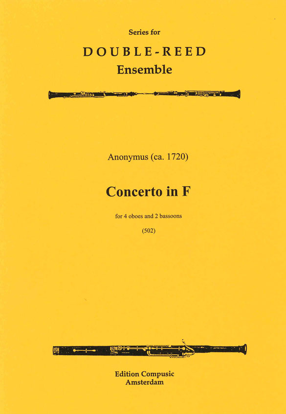 Anonymous: Concerto In F: Wind Ensemble: Score & Parts