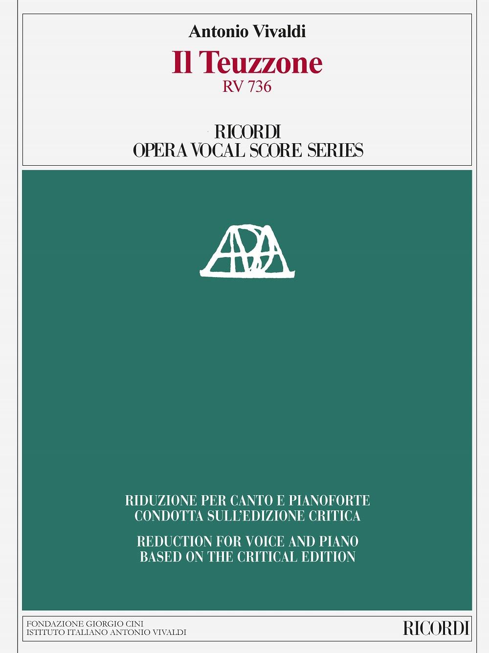 Antonio Vivaldi: Il Teuzzone RV 736: Vocal and Piano: Vocal Score