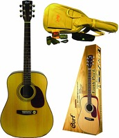 Cort Earth Open Pore Acoustic Pack W/ Accessories: Acoustic Guitar