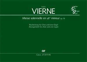 Louis Vierne: Messe solennelle en ut dièse mineur: SATB: Vocal Score