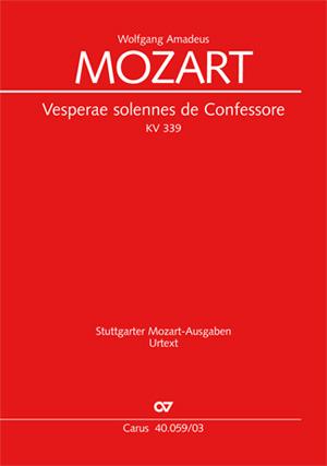 Wolfgang Amadeus Mozart: Vesperae Solennes De Confessore: Mixed Choir: Vocal