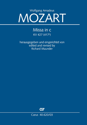 Wolfgang Amadeus Mozart: Missa In C: SATB: Vocal Score