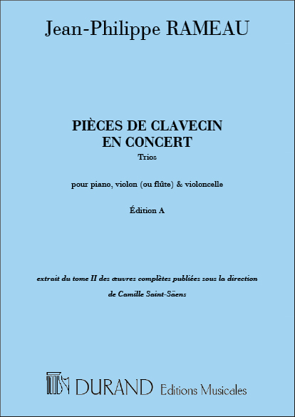 Jean-Philippe Rameau: Pièces De Clavecin En Concert  Trios: Piano Trio