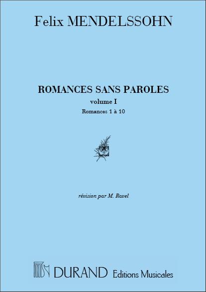 Felix Mendelssohn Bartholdy: Romances Sans Paroles V1 Piano (1 A 10): Piano