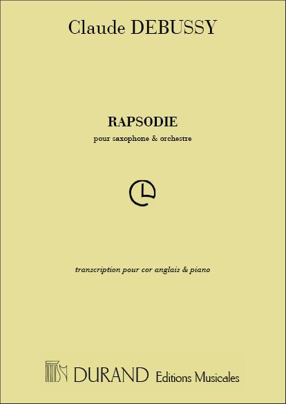 Claude Debussy: Rhapsodie - Pour Saxophone Et Orchestre: Oboe Duet: Score