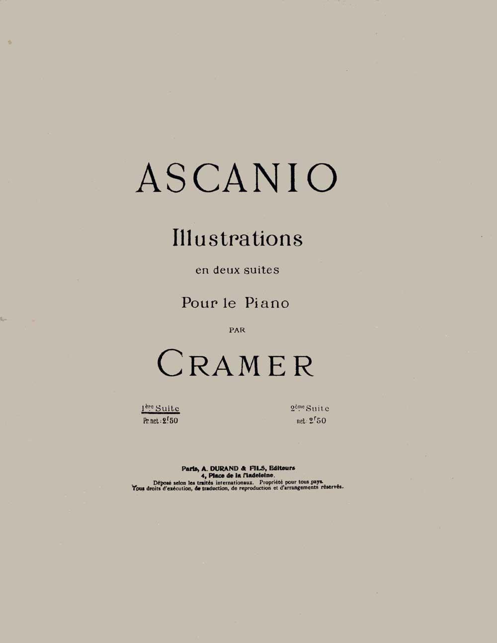 Camille Saint-Saëns: Illustrations en Deux Suites par Cramer 1ere Suite: Piano