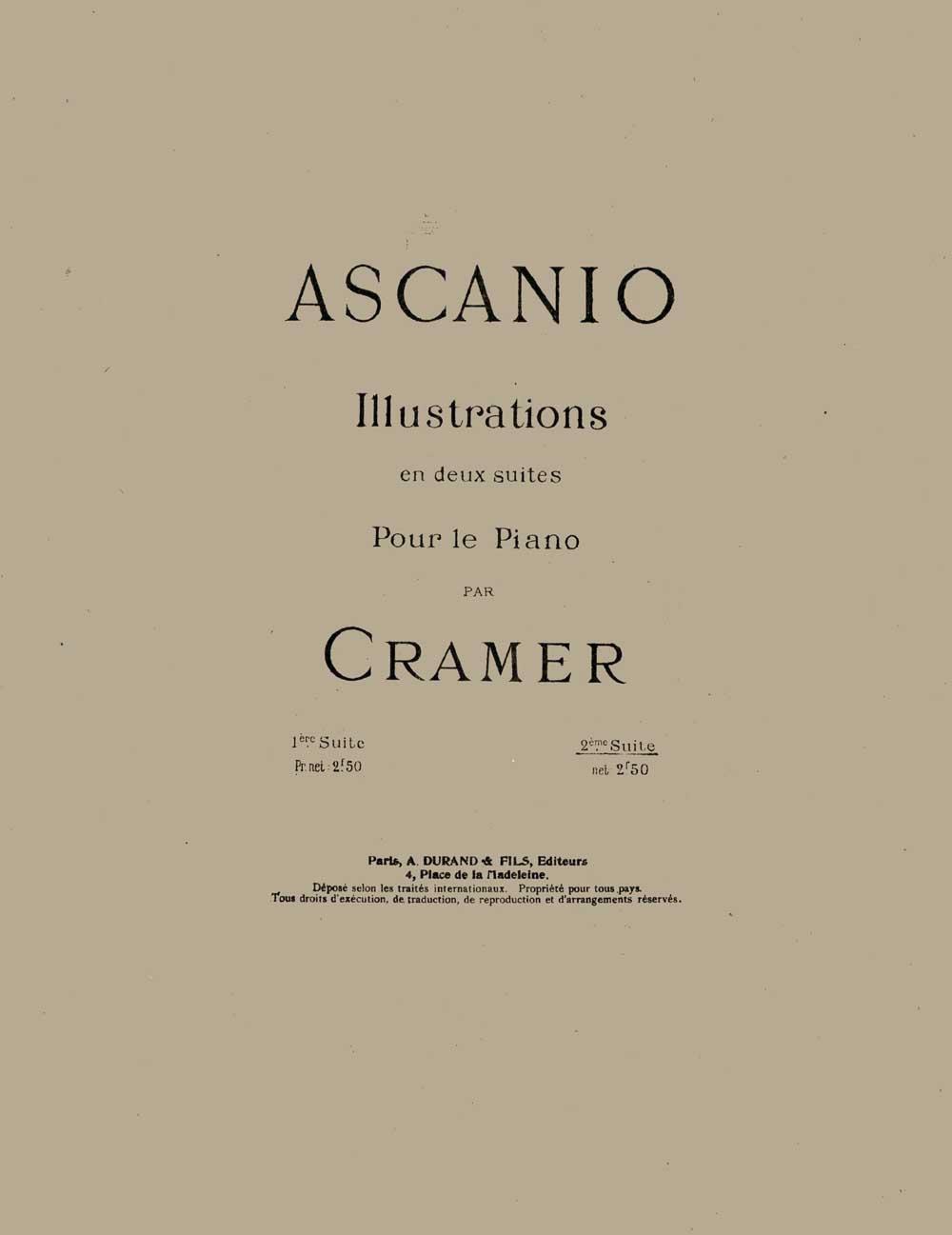 Camille Saint-Saëns: Illustrations en Deux Suites par Cramer 2eme Suite: Piano