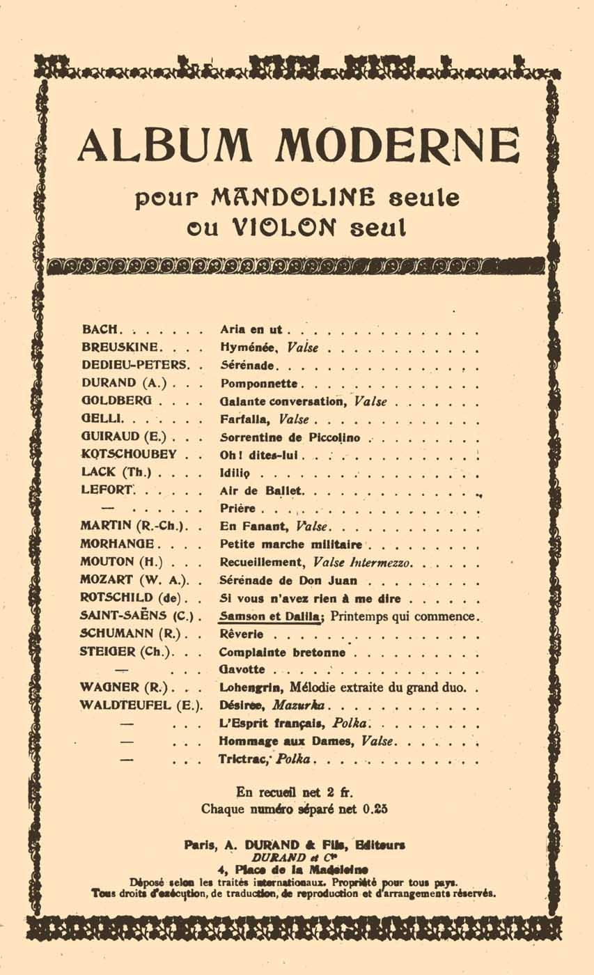Camille Saint-Saëns: Samson Et Dalila Printemps qui commence: Violin Solo: