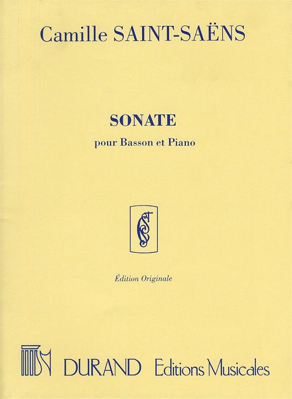 Camille Saint-Saëns: Sonate Op.168: Bassoon: Instrumental Work