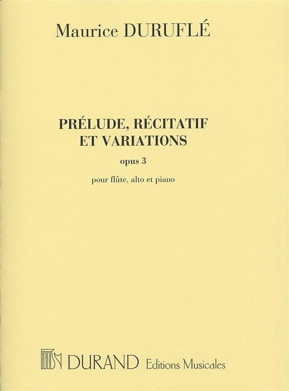 Maurice Duruflé: Prélude  Récitatif et Variations Opus 3: Flute & Viola: Score