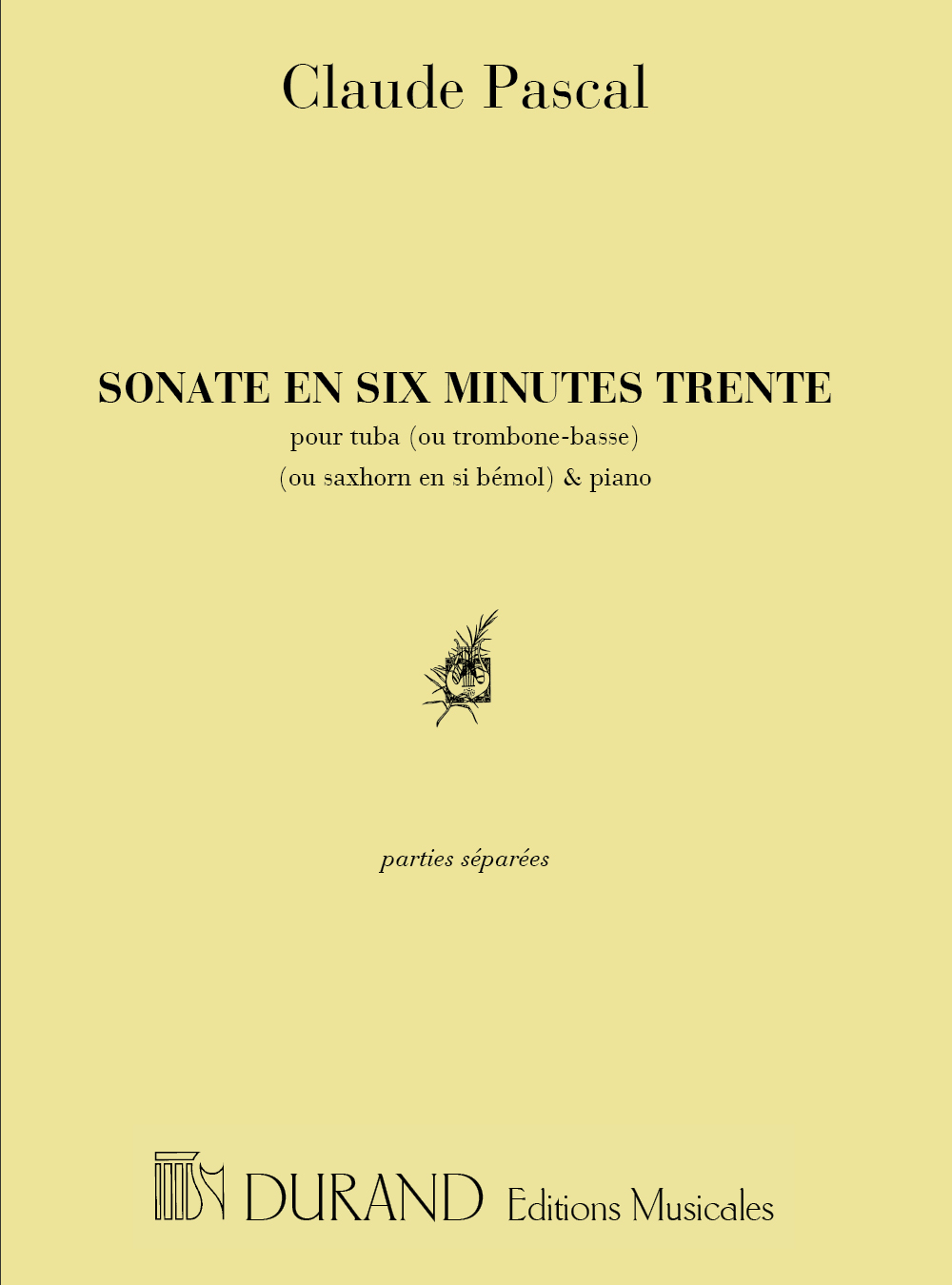 Claude Pascal: Sonate en 6 Minutes 30: Trombone or Tuba: Instrumental Work