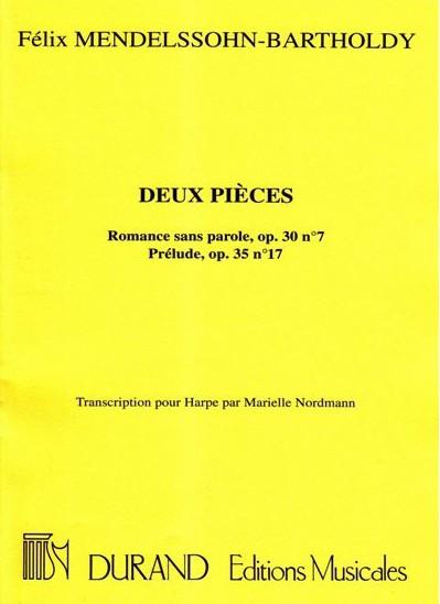 Felix Mendelssohn Bartholdy: Deux Pièces: Harp: Instrumental Work