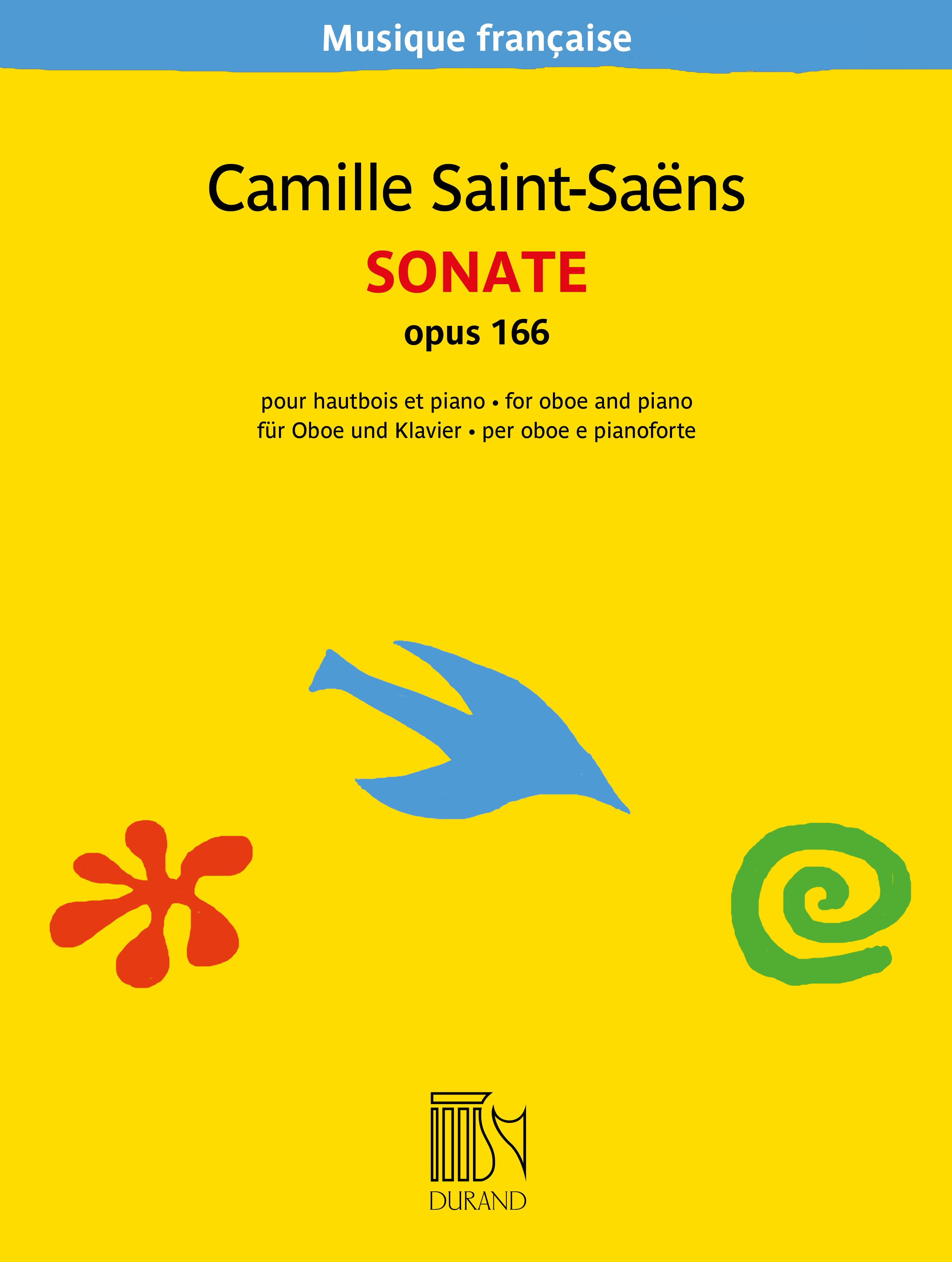Camille Saint-Saëns: Sonate opus 166: Oboe and Accomp.: Instrumental Work