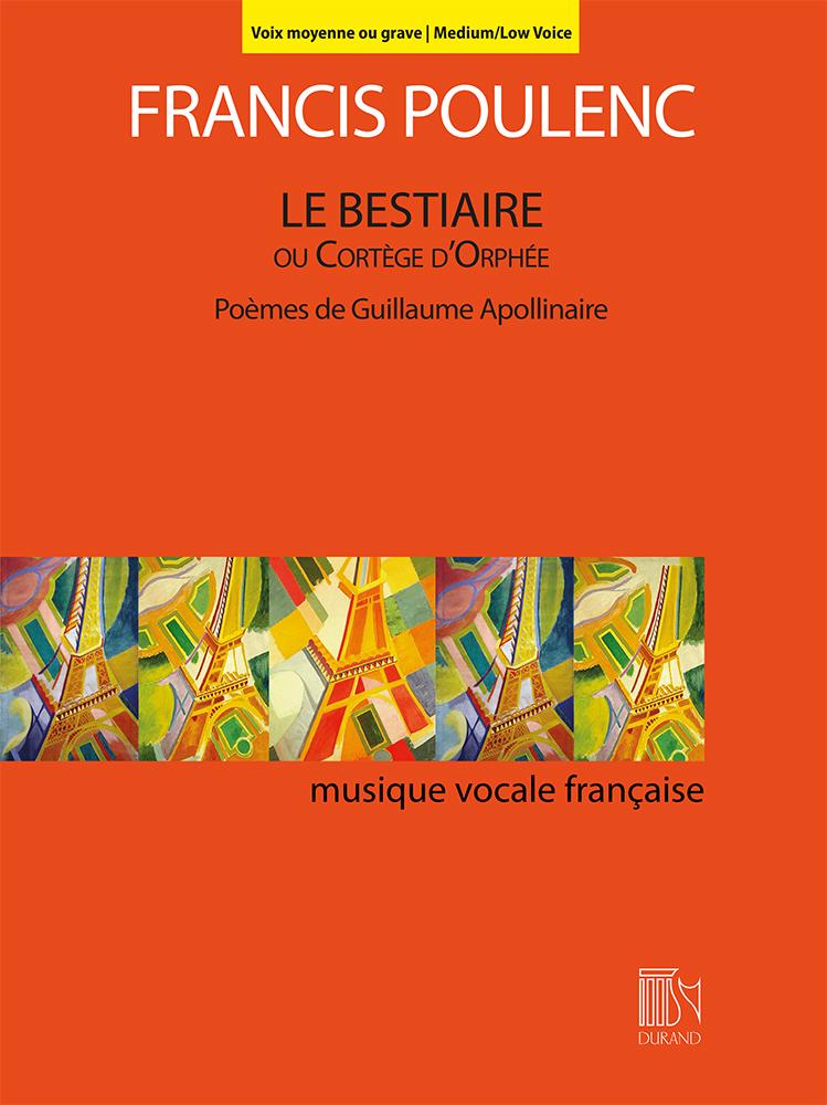 Francis Poulenc: Le Bestiaire ou Cortège d'Orphée: Vocal and Piano: Vocal Album