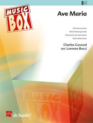 Charles Gounod Johann Sebastian Bach: Ave Maria: Clarinet Ensemble: Score &