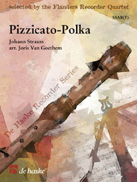 Johann Strauss Sr.: Pizzicato-Polka: Recorder Ensemble: Score & Parts