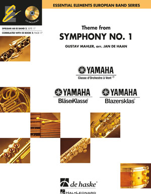 Gustav Mahler: Theme from Symphony No. 1: Concert Band: Score & CD