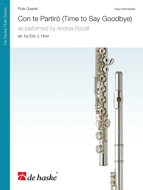Andrea Bocelli: Con Te Partirò (Time to Say Goodbye): Flute Ensemble: Score &