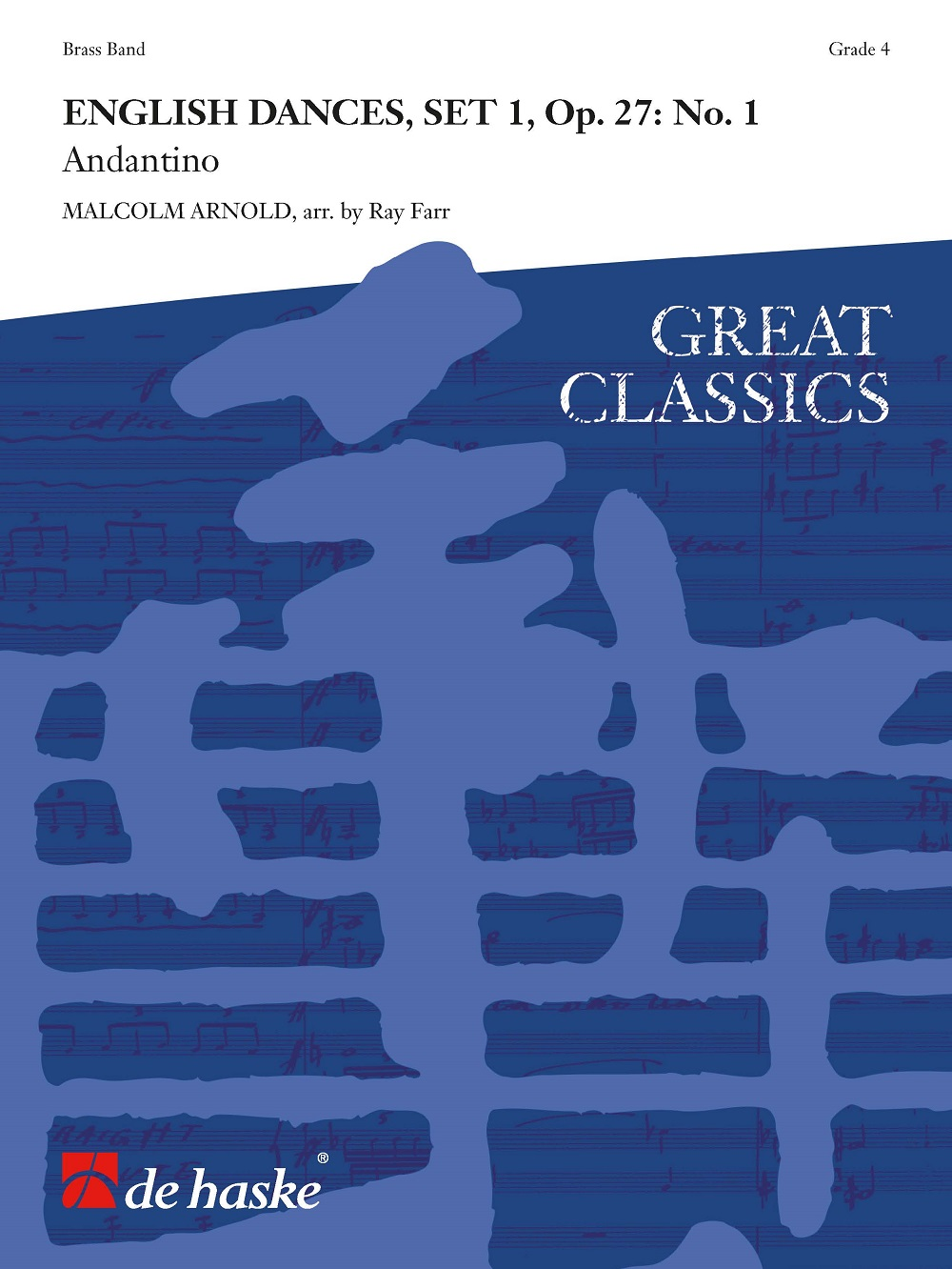 Sir Malcolm Arnold: English Dances  Set 1  Op. 27: No. 1: Brass Band: Score and