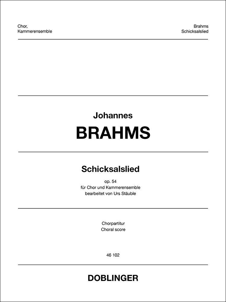 Johannes Brahms: Schicksalslied: Mixed Choir and Accomp.: Choral Score