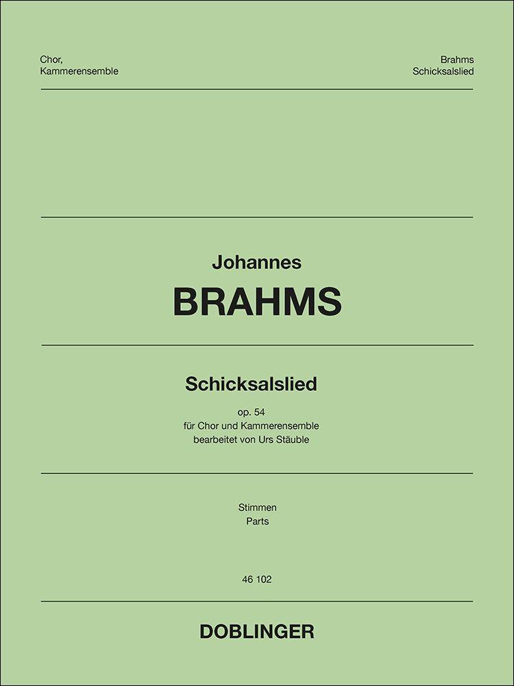 Johannes Brahms: Schicksalslied: Mixed Choir and Accomp.: Parts