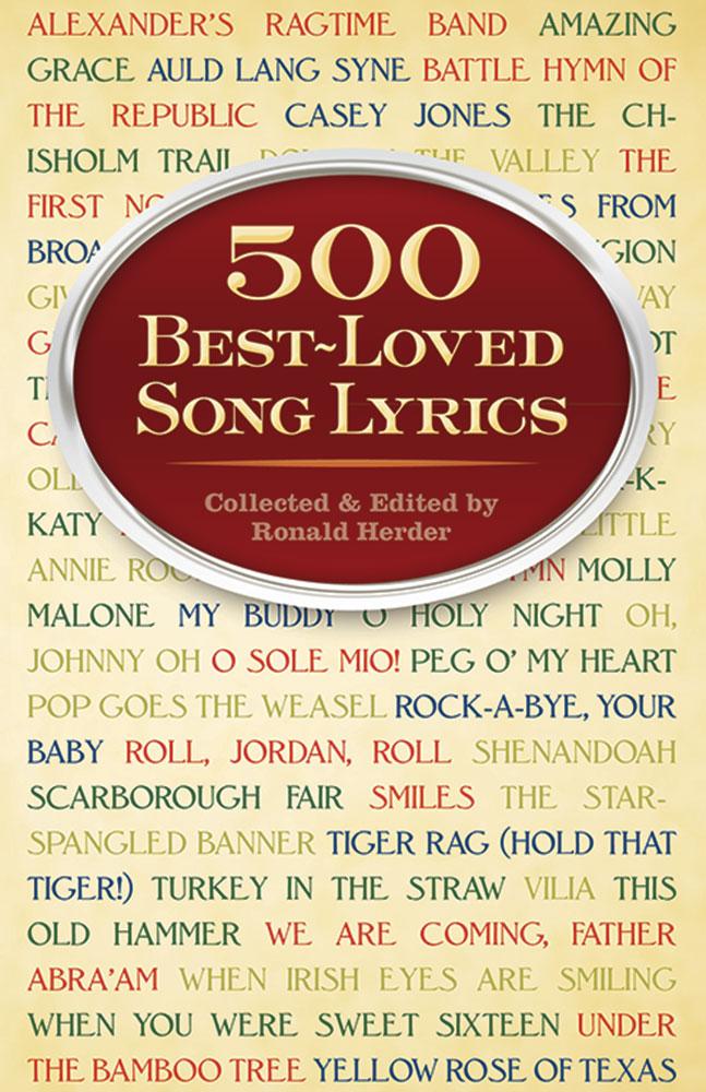 500 Best Loved Song Lyrics: Vocal: Vocal Collection