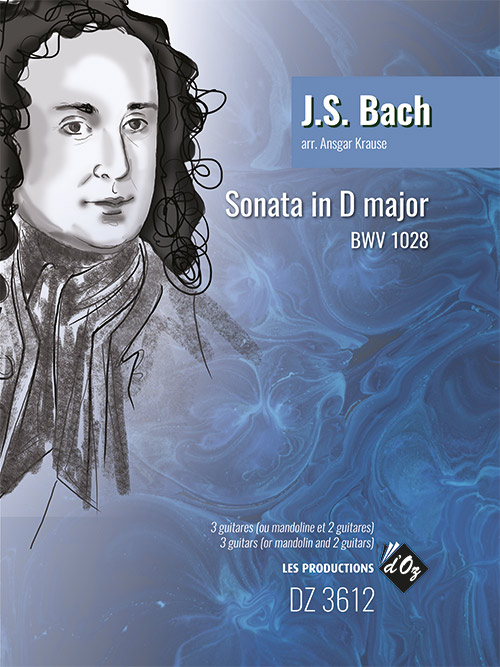 Johann Sebastian Bach: Sonata in D Major BWV 1028: Guitar Ensemble: Score &