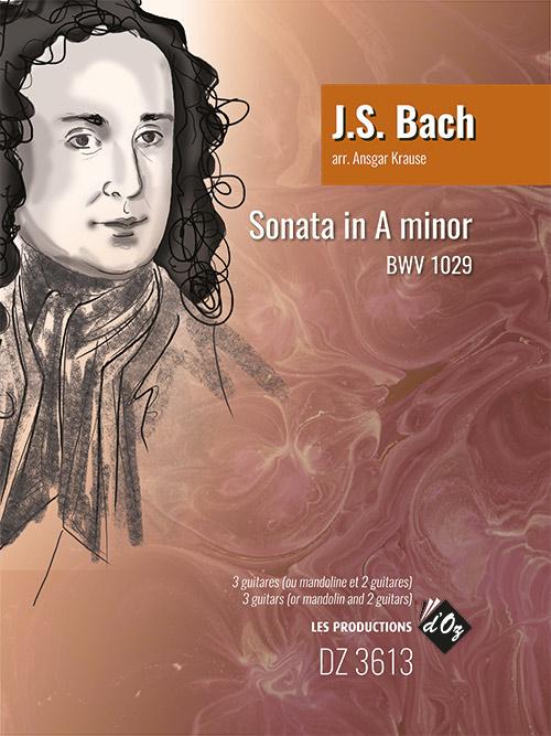 Johann Sebastian Bach: Sonata in A Minor BWV 1029: Guitar Ensemble: Score &