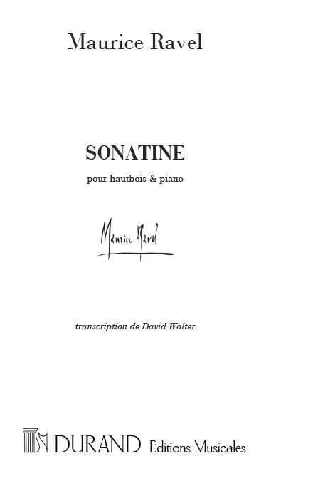 Maurice Ravel: Sonatine Hautbois-Piano (David Walter): Oboe Duet