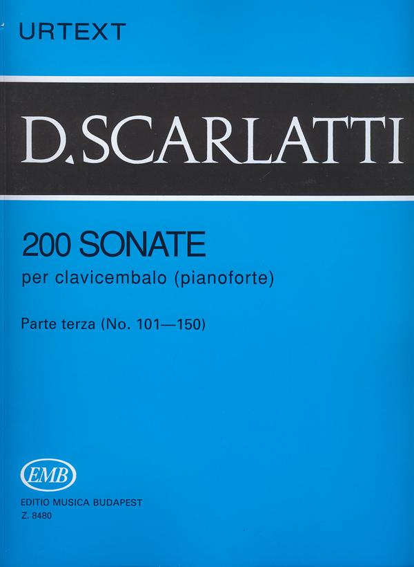 Domenico Scarlatti: 200 Sonate per clavicembalo (pianoforte) 3: Piano: