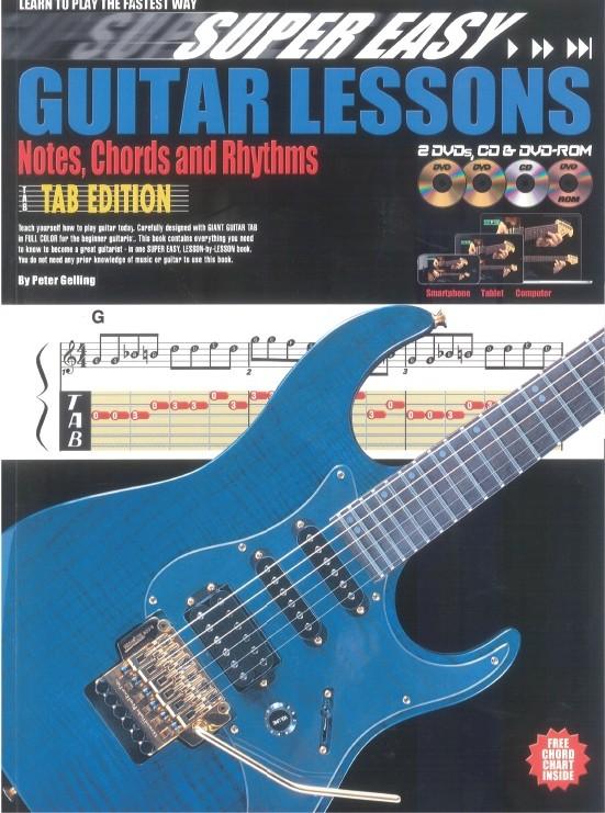 Peter Gelling: Super Easy Guitar Lessons: Guitar: Instrumental Tutor