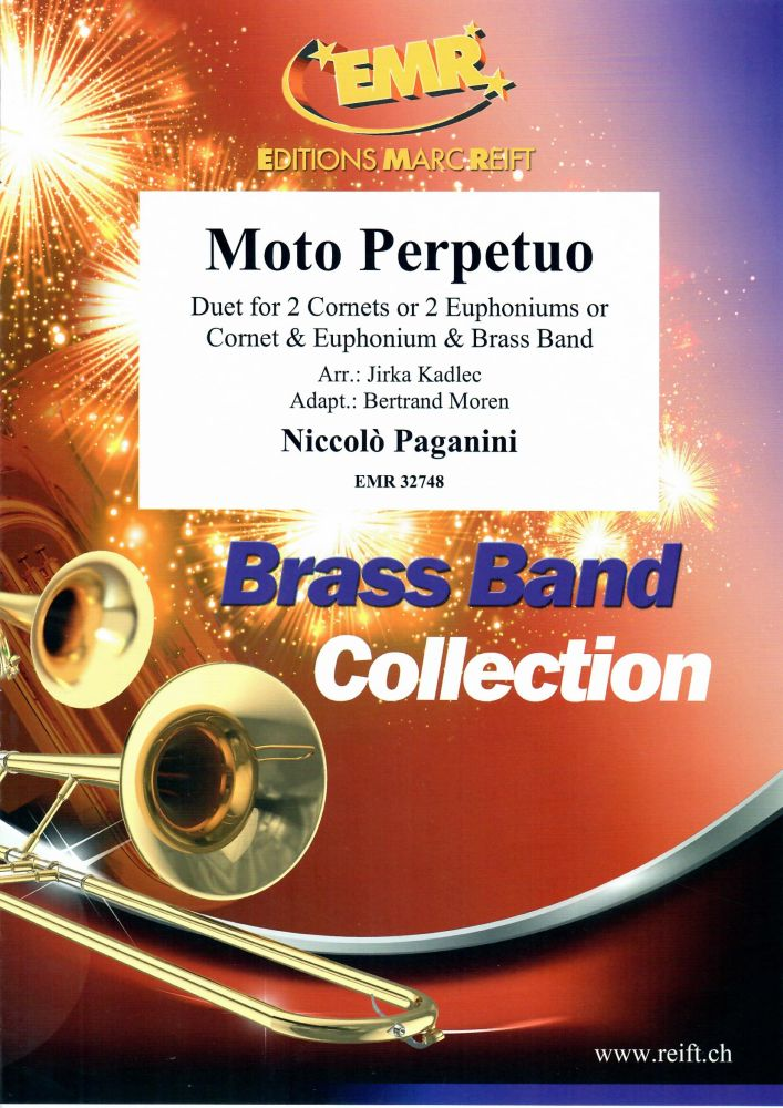 Niccolò Paganini: Moto Perpetuo: Brass Band and Solo: Score and Parts