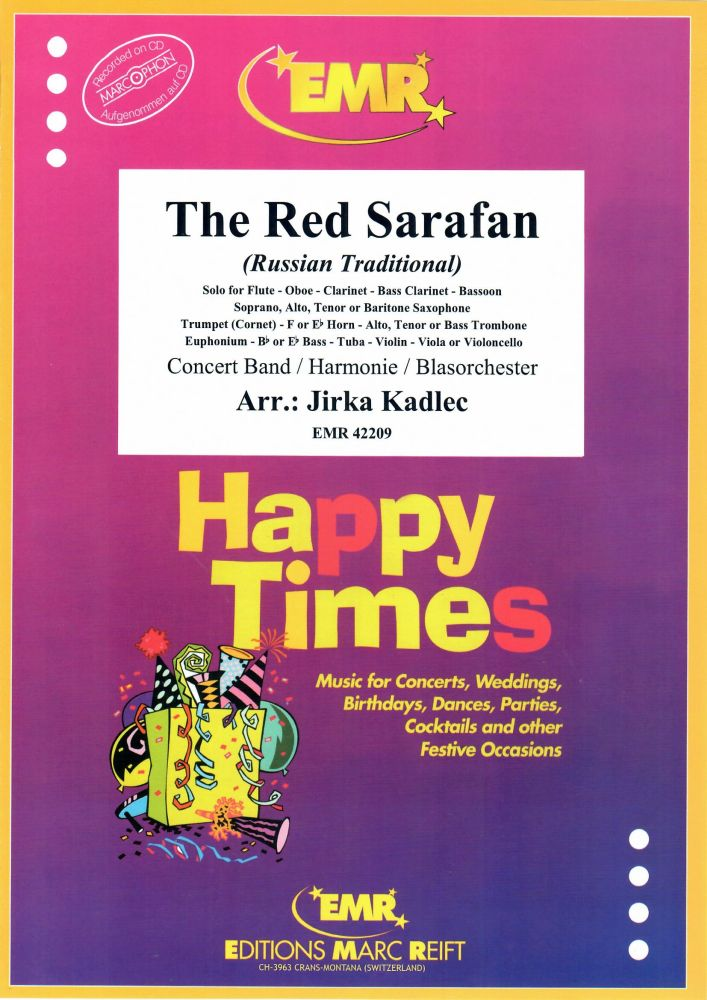 The Red Sarafan: Concert Band: Score and Parts