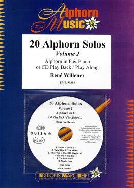 René Willener: 20 Alphorns Solos Volume 2: Horn: Instrumental Album