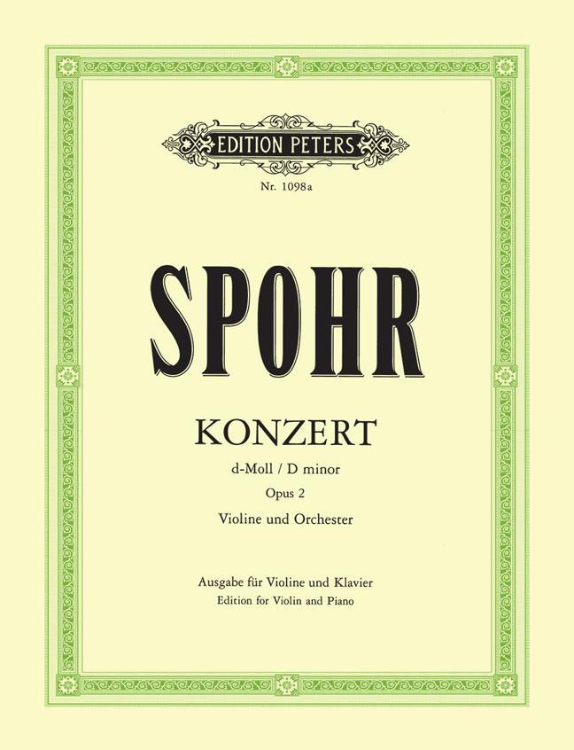 Louis Spohr: Concerto No.2 in D minor Op.2: Violin