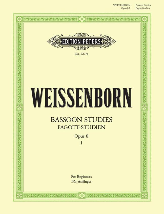 Julius Weissenborn: Fagottstudien 1 Op.8 - Bassoon Studies 1: Bassoon: