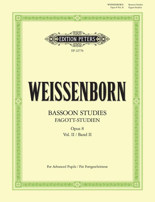 Julius Weissenborn: Fagottstudien 2 Op.8 - Bassoon Studies 2: Bassoon:
