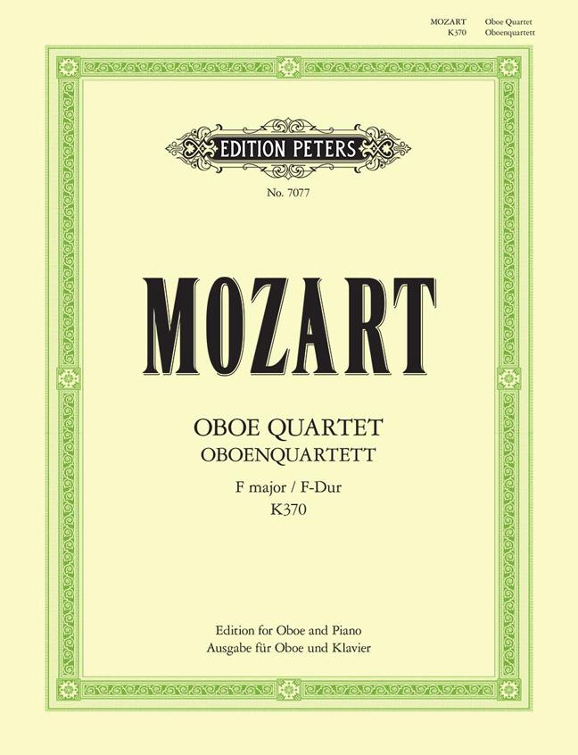 Wolfgang Amadeus Mozart: Oboe Quartet in F K.370: Oboe: Instrumental Work