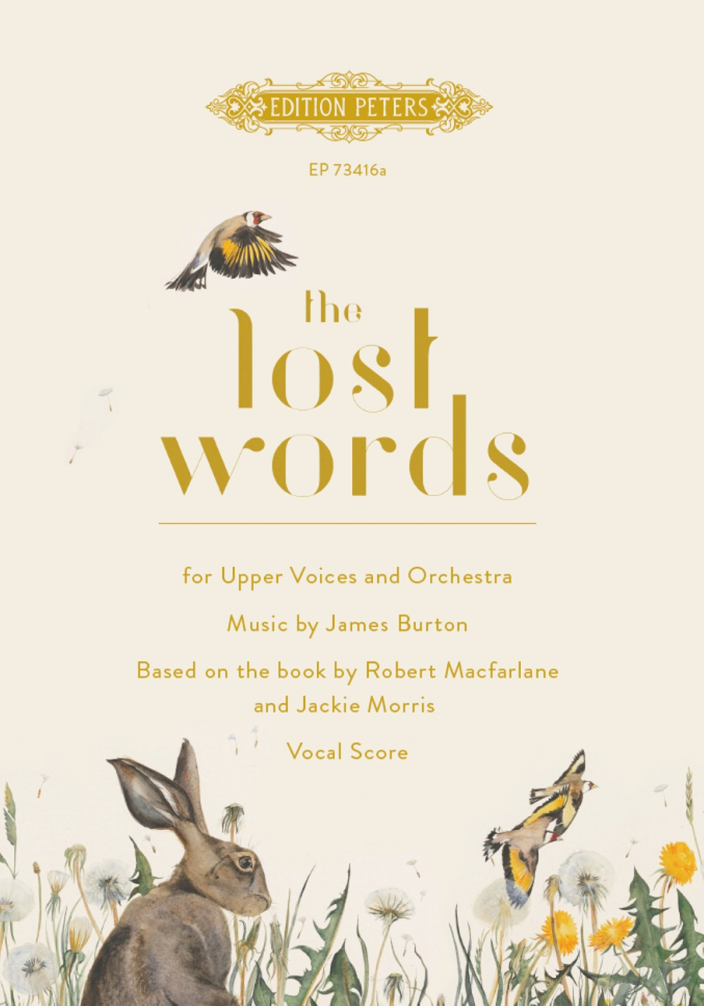 James Burton: The Lost Words: Upper Voices and Piano/Organ: Vocal Score