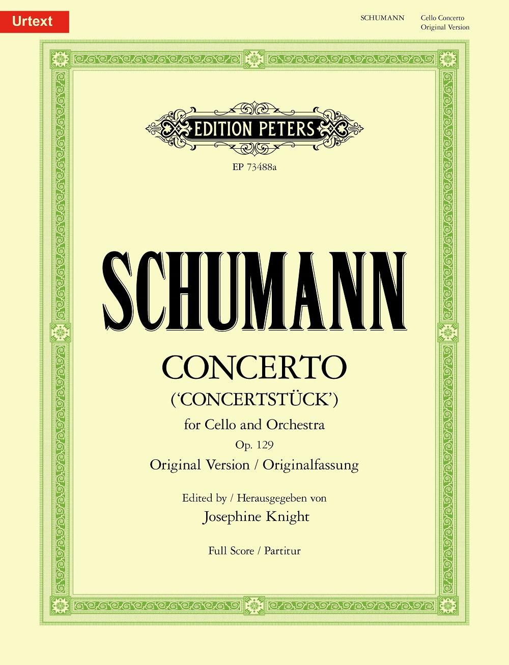 Robert Schumann: Concerto for Cello and Orchestra (Concertstück): Cello and