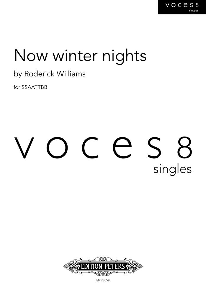 Roderick Williams: Now winter nights: Mixed Choir: Vocal Score
