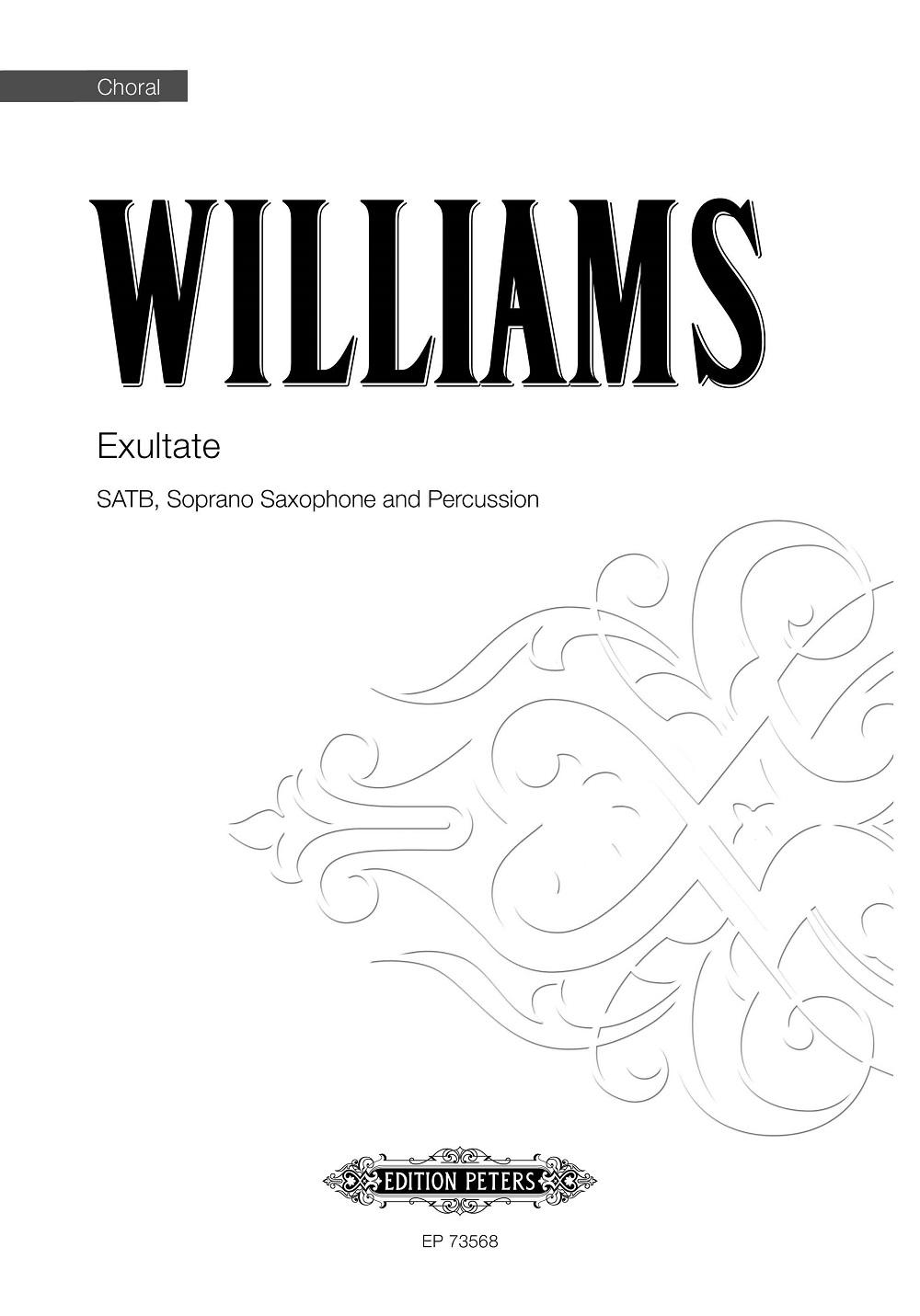 Roderick Williams: Exultate: Mixed Choir and Accomp.: Vocal Score