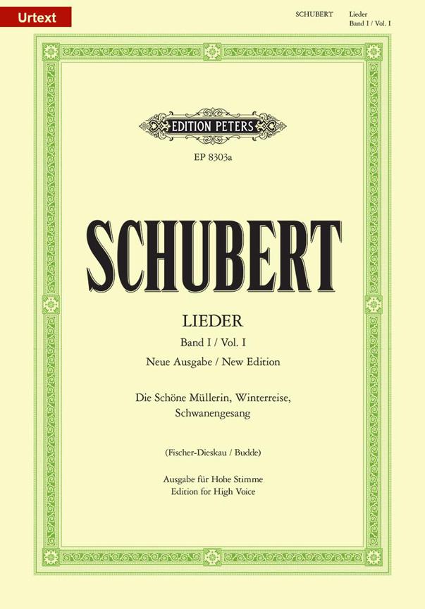 Franz Schubert: Lieder Volume 1 - High Voice: Voice: Vocal Album