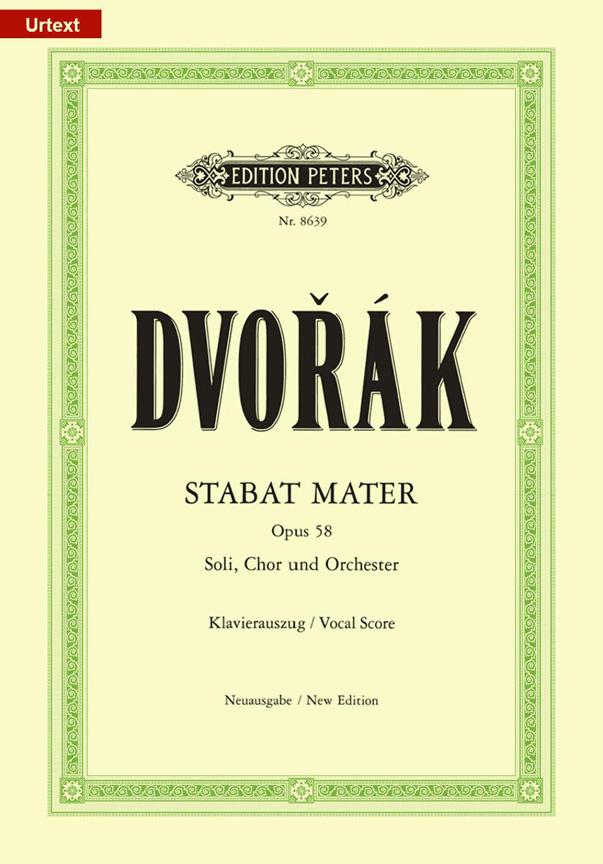Antonín Dvo?ák: Stabat Mater Op.58: SATB: Vocal Score