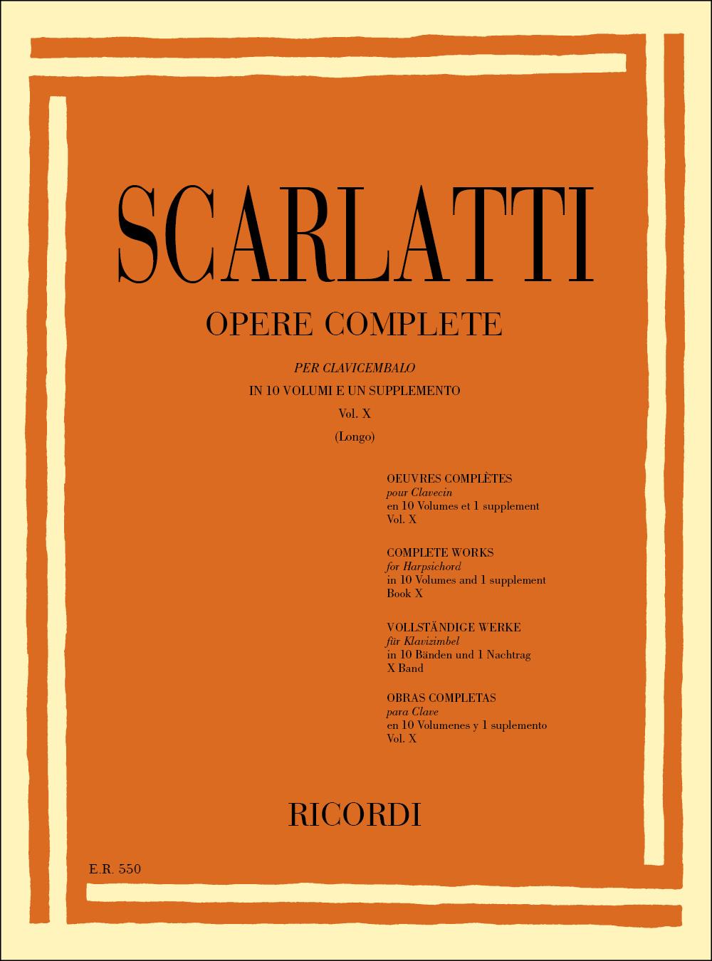 Domenico Scarlatti: Opere Complete Per Clavicembalo Vol. X: Harpsichord